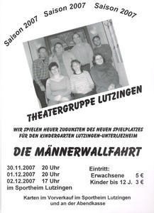 Theater in Lutzingen zugunsten des Kindergartens