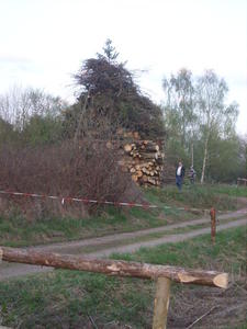 Osterfeuer in unserem schnen Dorf Ronhausen