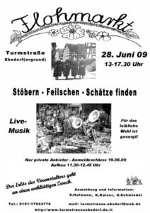 3. Turmstraenflohmarkt in Ebsdorf am 28.06.2009