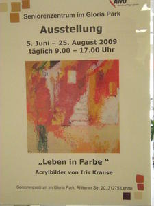 Ausstellung der Malerin Iris Krause, Acryl und Akt, im Gloria Park Lehrte.