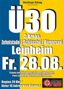 Ü30 Party Leipheim Zehentstadel