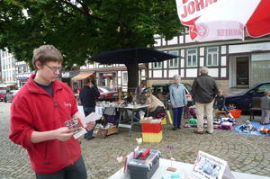Flohmarkt auf dem Marktplatz in Bad Grund fand groe Resonanz
