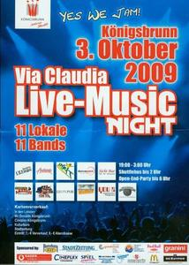 Via Claudia Music Night in Königsbrunn - 03. Oktober 2009 !