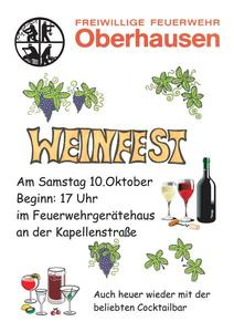 Alljhrliches Weinfest der Feuerwehr Oberhausen