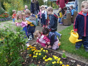 Kindergartenkinder entdecken die Natur' ; Projekt ein voller Erfolg
