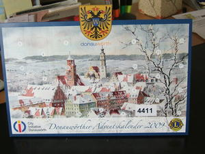 Donauwrther Adventskalender 2009 bei  Heilig Kreuz vorrtig - Verkauf bis nchsten Dienstag