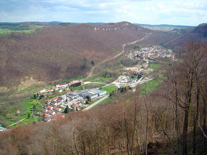 Blick Richtung Albaufstieg bei Lichtenstein-Honau