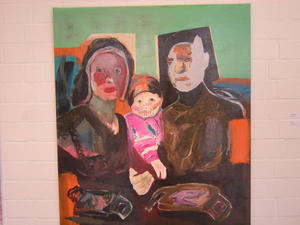 Finissage des Malers Jochen Krmann mit der Ausstellung 'Familie'.