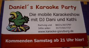 Karaoke-Party im Caf Musica in Thannhausen