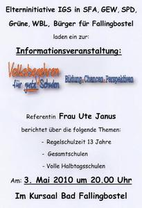 Volksbegehren fr gute Schulen - Bildung, Chancen, Perspektiven