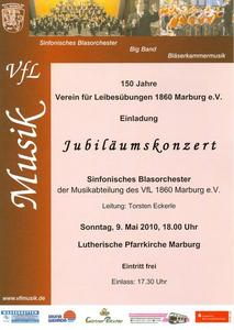 Musik: Jubilums-Konzert in der Kirche  150 Jahre VfL Marburg