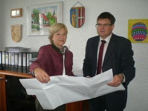 MdL Erika Grlitz und Brgermeister Albert Vogler
