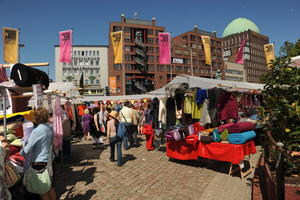 'Original Stoffmarkt Holland'  In Hannover am Steintor.