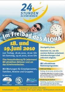 24 Stunden Schwimmen im Freibad des Aloha