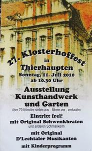 27. Klosterhoffest in Thierhaupten