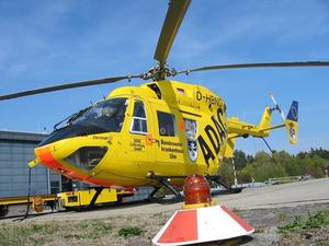 Rettungshubschrauber zum Klinikum Augsburg