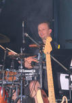Drummer Alex von der Rocking Chair Band beim Intruder & Chopper Open-Air 2010 auf Schloss Scherneck