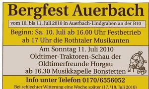 Bergfest Auerbach