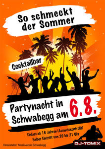 Sommerstimmung auf der Partynacht in Schwabegg