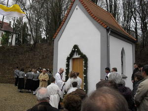 Kleinod am Radwanderweg Donau-Bodensee: lberg-Kapelle in Schnebrg