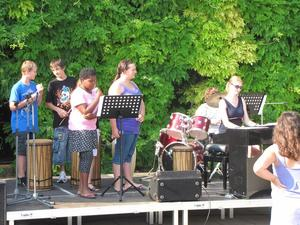 Tolle Stimmung beim 1. Open-Air an der Hauptschule Sd