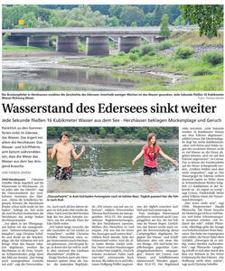 Streitpunkt Wasserstand des Edersees: rger nicht nur in Herzhausen