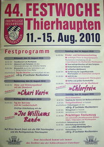 44. Festwoche Thierhaupten vom 11. - 15. August 2010
