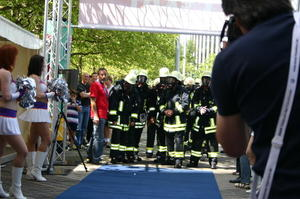 Firefighters-Cup beim SkyRun Messe-Turm-Frankfurt