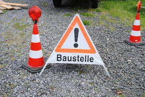 Baustelle Augsburger Innenstadt Brgermeister-Fischer-Strae