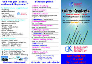 Gewerbeschau mit Sommerfest  der Gemeinschaft der Kirchroder Kaufleute am 04.09.2010