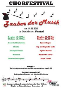 Super-Chorfestival im Stadttheater Wunstorf. Motto ZAUBER DER MUSIK