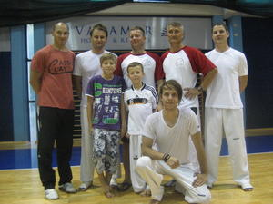 Kissinger Taekwondokas mit Bundestrainer im Trainingscamp in Kroatien