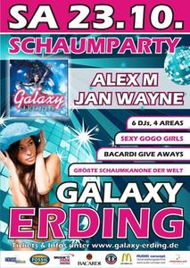 Schaumparty am 23. Oktober 2010 im Galaxy Erding
