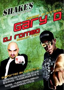 SHAKE´S proudly presents: DJ GARY D feat. ROMEO