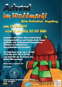 Advent im Wollmarkt - der Geheimtipp im vorweihnachtlichen Augsburg