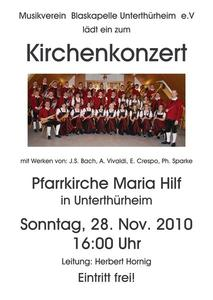 Kirchenkonzert der Blaskapelle Unterthrheim