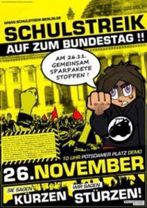Schulstreik - auf zum Bundestag