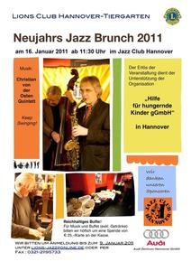 Charity-Jazzbrunch im Jazz Club Hannover am 16. Januar 2011