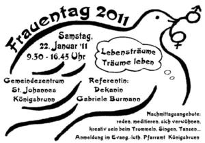 Evang.-luth. Kirchengemeinde Knigsbrunn Frauentag 2011 'Lebenstrume - Trume leben'