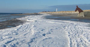 Dnemarks Nordseekste im Winter