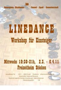 Linedance-Workshop  step-by-step  im Freizeitheim Stcken mit den Hannover Minstrels