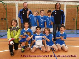 FC Knigsbrunn F1 wird Zweiter in der Kreismeisterschaft 2010/2011