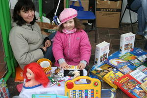 Kinderflohmarkt am Marktstonntag, 3. April 2011