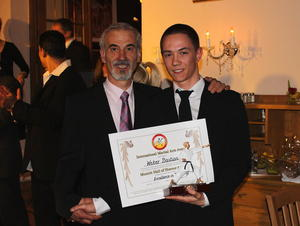 Bastian Weber geehrt als 'Excellence in Teaching (3rd Dan up)'