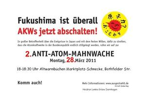 Anti-Atom-Mahnwache in Altwarmbchen wird fortgesetzt!