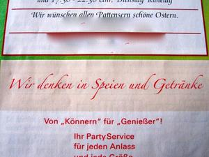 So steht es im pattenser Herold (Von 'Knnern'!) - 'Speien' fr Genieer, hmmmm!