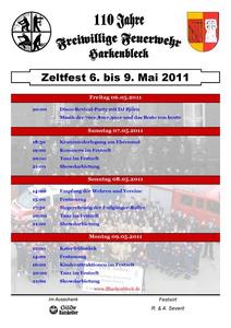 Feuerwehrfest der FF Harkenbleck vom 06. bis zum 09. Mai - Programmablauf