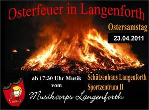Osterfeuer in Langenforth mit dem MCL