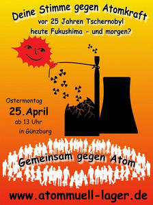 Anti-Atom-Demonstration in Günzburg am 25. April mit Beteiligung der Piraten!