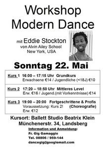 MODERN DANCE WORKSHOP IM STUDIO BEATRIX KLEIN 22.5.2011
